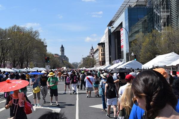Japanese Street Festival crowd in 2018 Washington D.C.