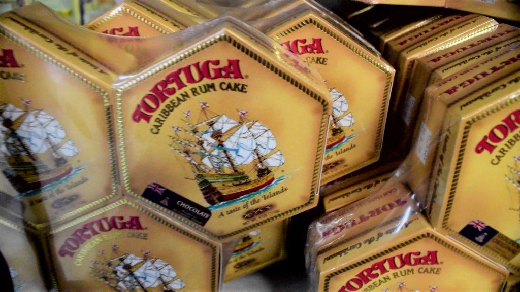 Tortuga Caribbean Rum Cakes at Grand Cayman shop