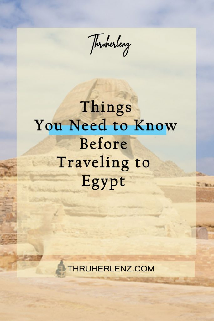 Pinterest pin for Things you need to know before traveling to Egypt
