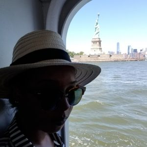 onboard the ferry to ellis island