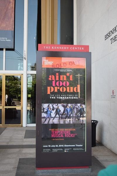 Ain't Too Proud. Broadway Performance - Kennedy Center Washington D.C.