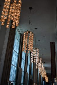 Ceiling Chandeliers at The Kennedy Center for Performing Arts Washington D.C.