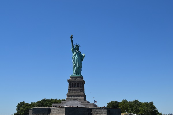 The Statue of Liberty National Monument in New York
