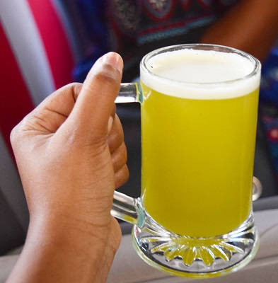 Sugar Cane Juice from Street vendor in Luxor, Egypt