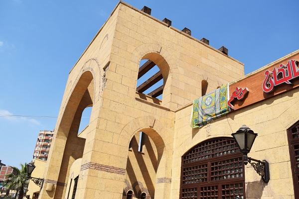 Outside view of Restaurant Al Khan in Cairo, Egypt