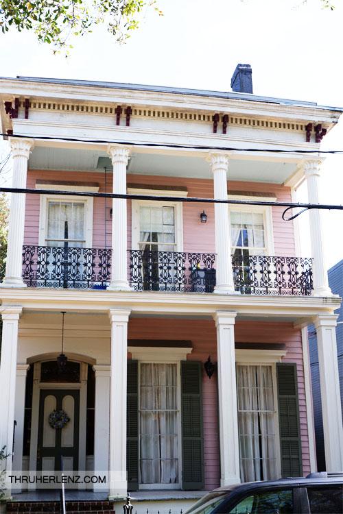 Pink Garden District home New Orleans