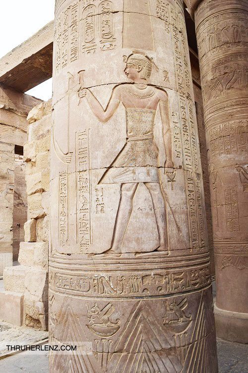 Karnak Temple carving on pillar
