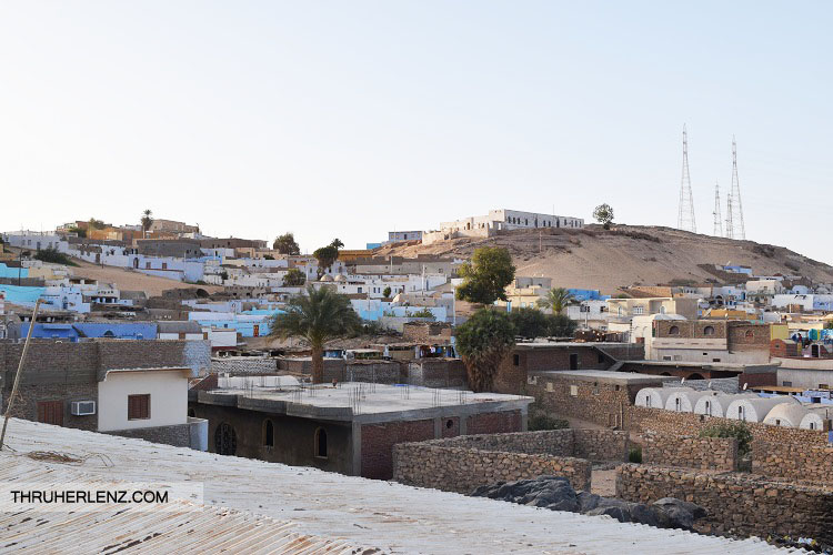 Nubian Village Overlook from rooftop building in the village.