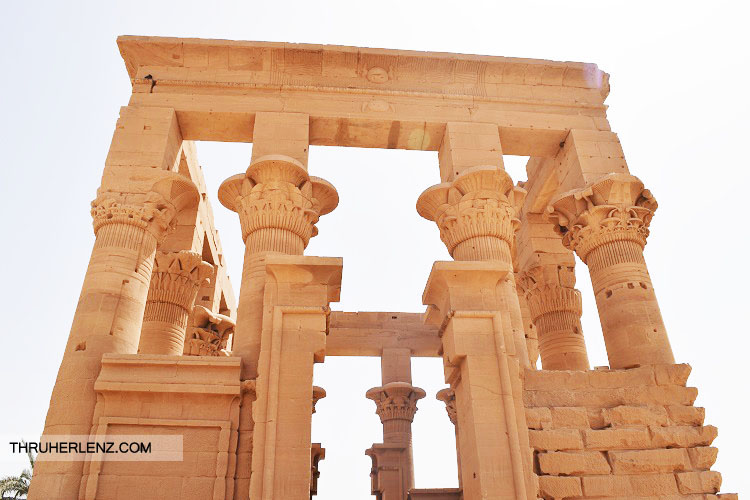A look at the beautiful Philae Temple dedicated to Isis.