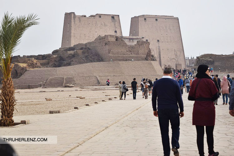 Walking towards the Temple of Edfu