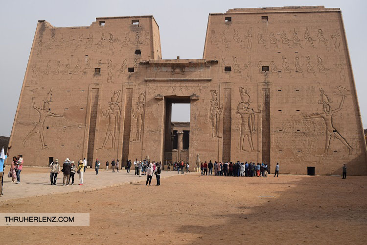 Entrance of Temple of Edfu.