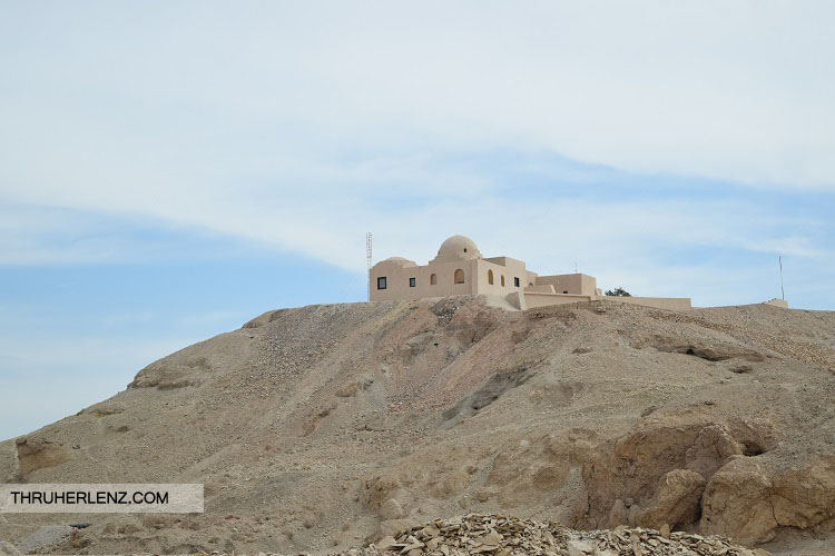Traveling through Egypt's West Bank Nile on the way to Mortuary Temple of Hatshepsut.