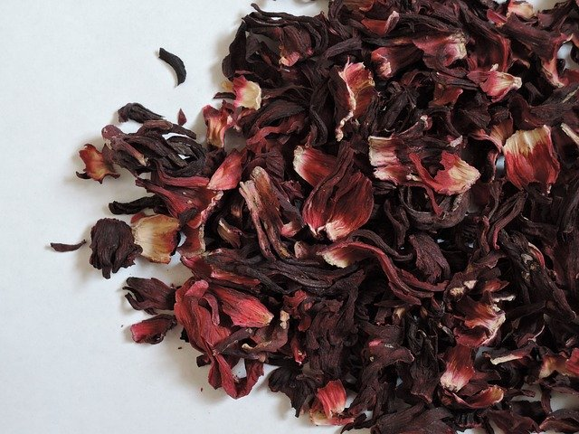 Dried Hibiscus flowers for tea